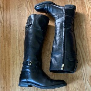 Enzo Angiolini Black Leather Riding Boots